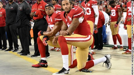 Football Players Around America Follow in Kaepernick's Footsteps