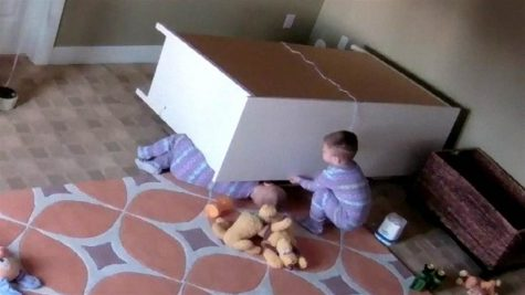 Toddler Saves Twin Brother Stuck Under Dresser