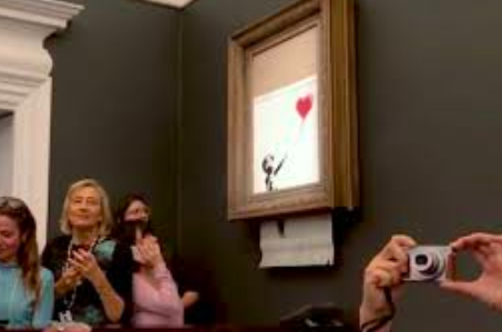 Banksy's Self-destructed Painting