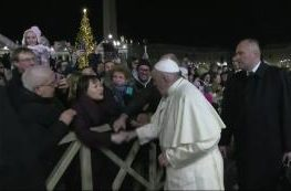 Pope Francis Slaps Weeping Woman