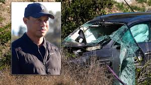 Tiger Woods Injured In Violent Car Crash